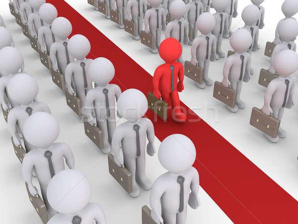 Işadamları ayakta bir yürüyüş kırmızı Stok fotoğraf © 6kor3dos