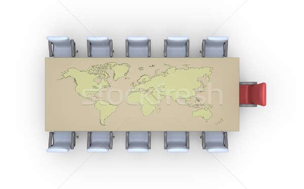 チェア 表 地球 地図 空っぽ 世界地図 ストックフォト © 6kor3dos