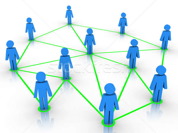 Human figures connected as a network Stock photo © 6kor3dos