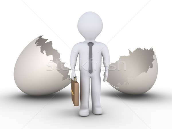 Businessman out of egg Stock photo © 6kor3dos