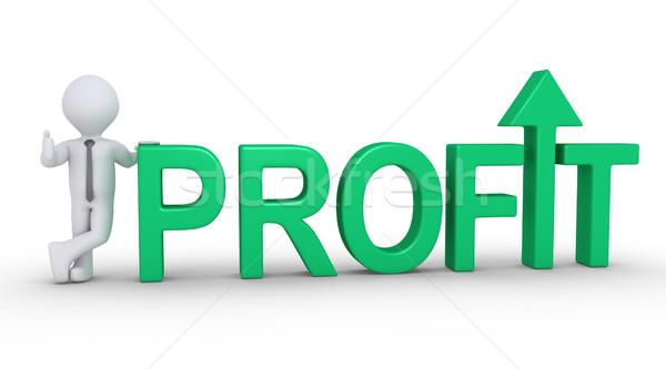 Growing profit of businessman Stock photo © 6kor3dos