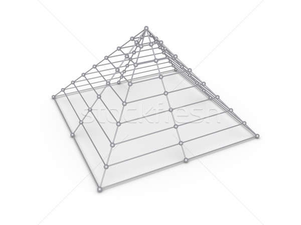 Piramit küreler inşaat iş soyut hizmet Stok fotoğraf © 6kor3dos