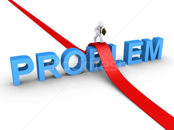 Businessman overcoming problem Stock photo © 6kor3dos