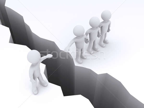 People offer help to another to cross gap Stock photo © 6kor3dos