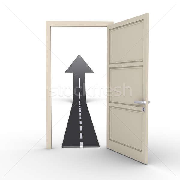 ドア 道路 矢印 ビジネス ストックフォト © 6kor3dos