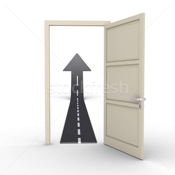 Opened door provides road Stock photo © 6kor3dos