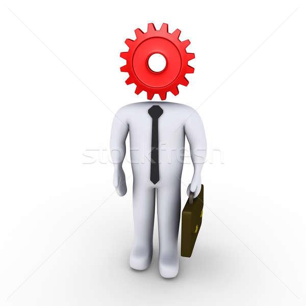 Cog affaires homme travaux technologie signe Photo stock © 6kor3dos