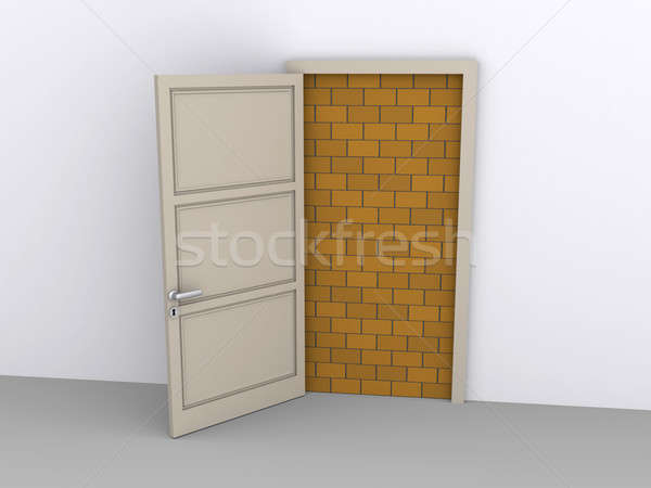 Blocked doorway Stock photo © 6kor3dos