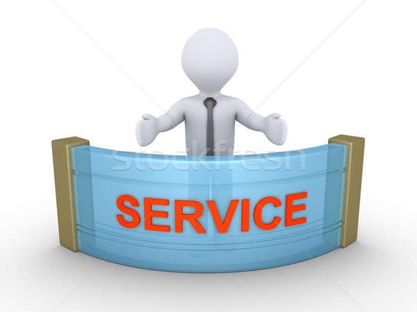 Businessman is providing service Stock photo © 6kor3dos