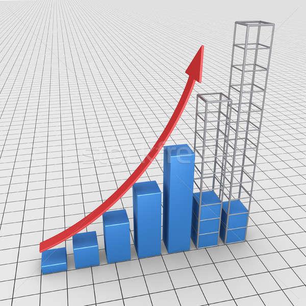 予測 グラフィック グラフ 2 列 ストックフォト © 6kor3dos