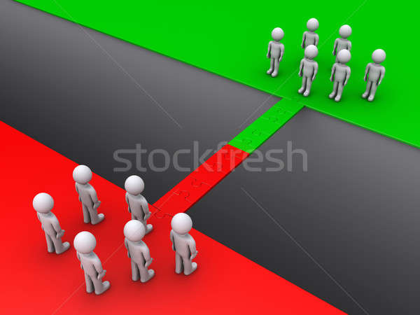 Two teams standing on opposite sides Stock photo © 6kor3dos