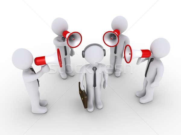 Cuatro empresario otro 3D empresarios Foto stock © 6kor3dos