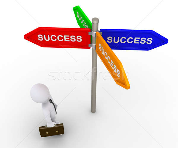 Businessman is looking for the right path to success Stock photo © 6kor3dos