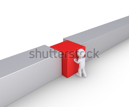 Person is connecting wall Stock photo © 6kor3dos