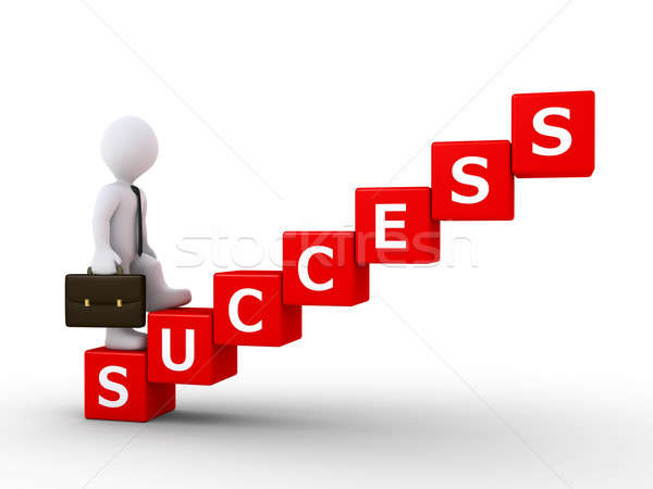 Businessman climbing stairs of success Stock photo © 6kor3dos