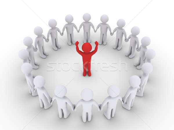 People form a circle and listen to the leader Stock photo © 6kor3dos