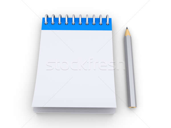 Notepad with a pencil Stock photo © 6kor3dos