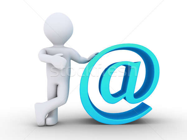 Person is next to e-mail Stock photo © 6kor3dos