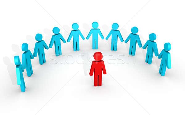 Leader and human figures around him Stock photo © 6kor3dos