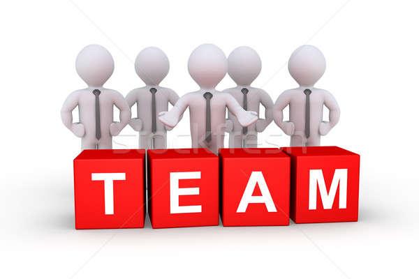 Businessmen as team Stock photo © 6kor3dos