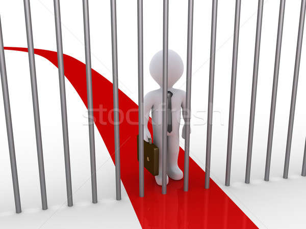 Businessman path is blocked by metal bars Stock photo © 6kor3dos