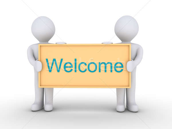 Welcome message Stock photo © 6kor3dos