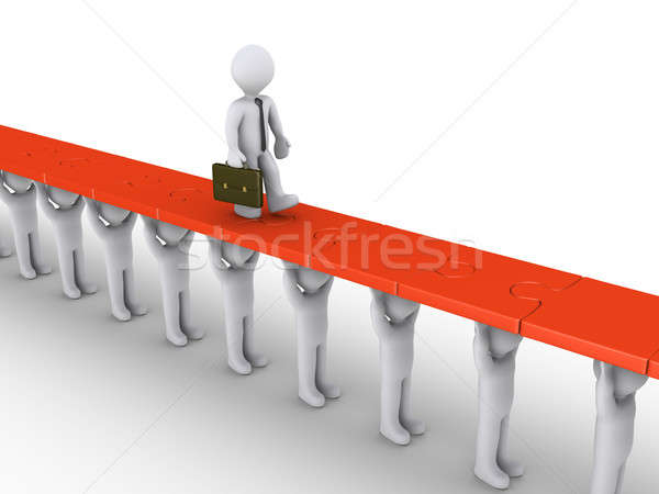 Businessman is supported in order to succeed Stock photo © 6kor3dos