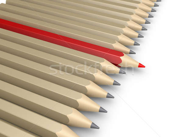 Many pencils and one more forward as the leader Stock photo © 6kor3dos