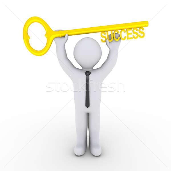 幸せ ビジネスマン 3D キー ストックフォト © 6kor3dos