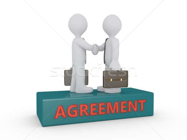 бизнесменов соглашение подиум два руками слово Сток-фото © 6kor3dos