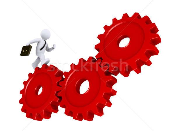 Affaires courir 3D trois rouge Photo stock © 6kor3dos
