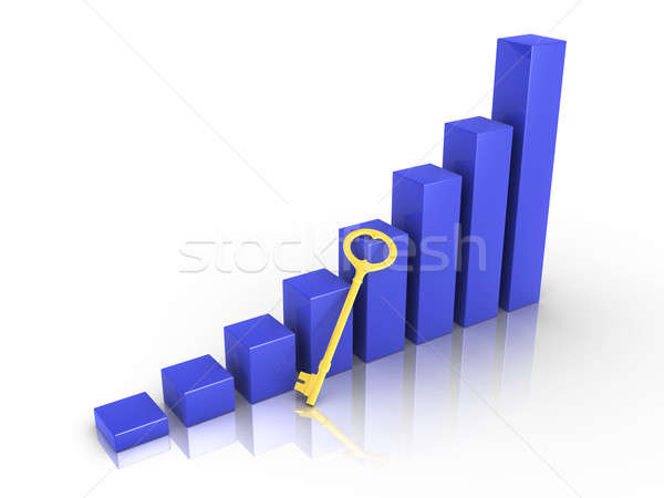Stock photo: Graph with golden key