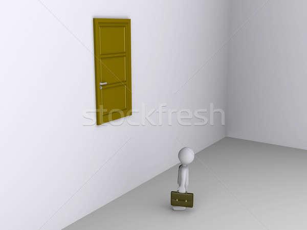 ビジネスマン することができます しない に達する ドア 終了する ストックフォト © 6kor3dos