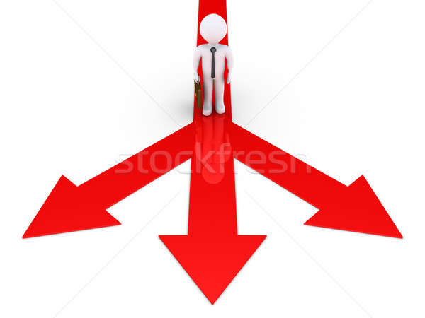 Businessman has to choose direction Stock photo © 6kor3dos