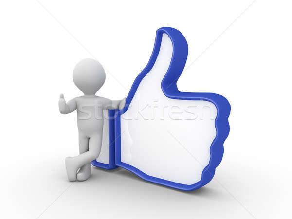 人 のような シンボル 手 親指 ストックフォト © 6kor3dos