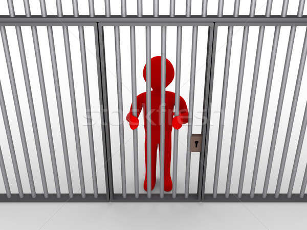 Person behind bars as a prisoner Stock photo © 6kor3dos