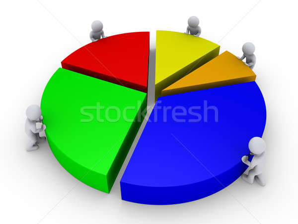 Five people complete pie chart Stock photo © 6kor3dos