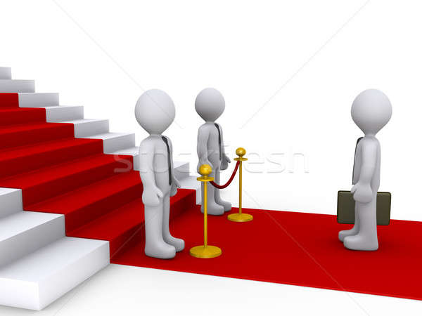 Businessman in front of stairs and two others are blocking his w Stock photo © 6kor3dos