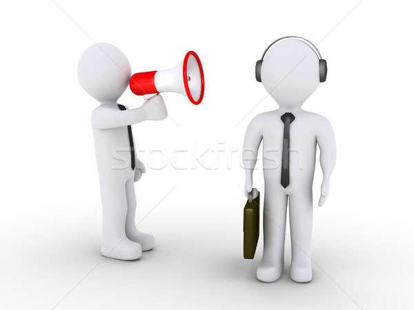 Jefe empleado 3D empresario megáfono Foto stock © 6kor3dos