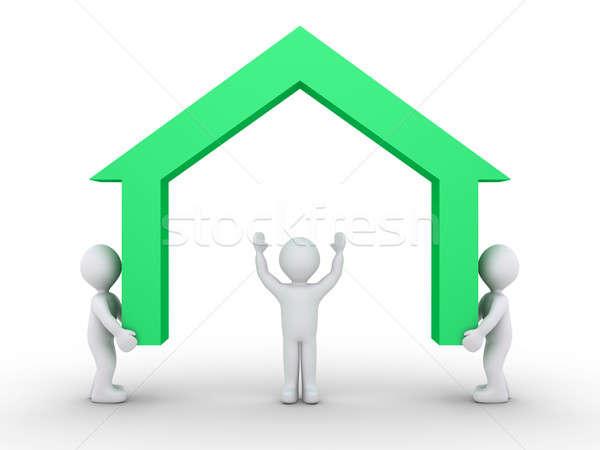 Constructing a new house Stock photo © 6kor3dos