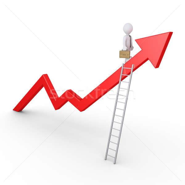 成功 ビジネスマン 立って グラフ はしご ストックフォト © 6kor3dos