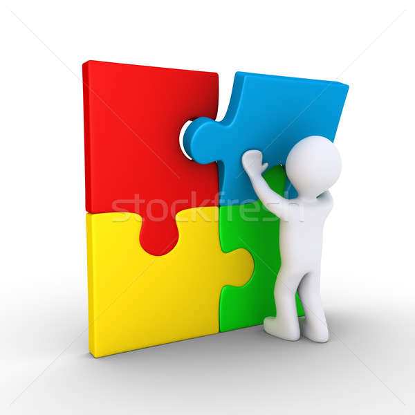 Person finishing puzzle Stock photo © 6kor3dos