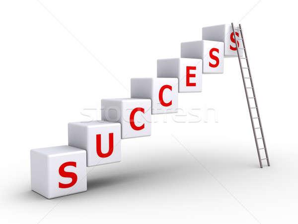 Success cubes and a ladder Stock photo © 6kor3dos