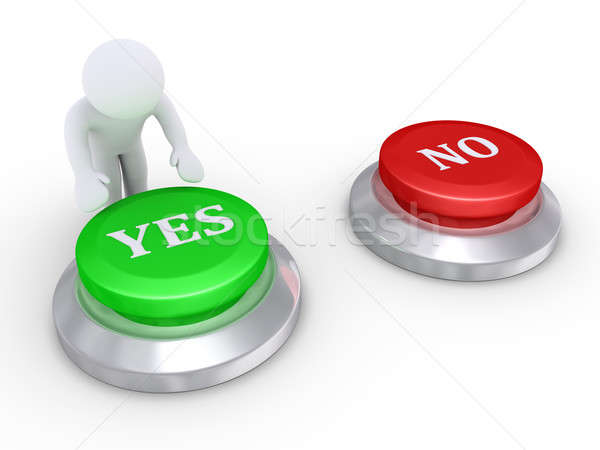 Person pressing the yes button Stock photo © 6kor3dos