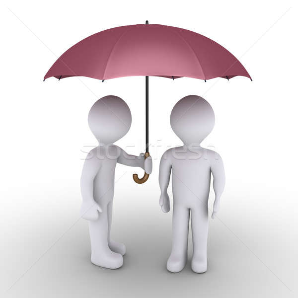 Person protecting with umbrella another one Stock photo © 6kor3dos