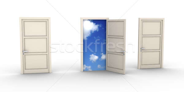 Opened door leads to the sky Stock photo © 6kor3dos