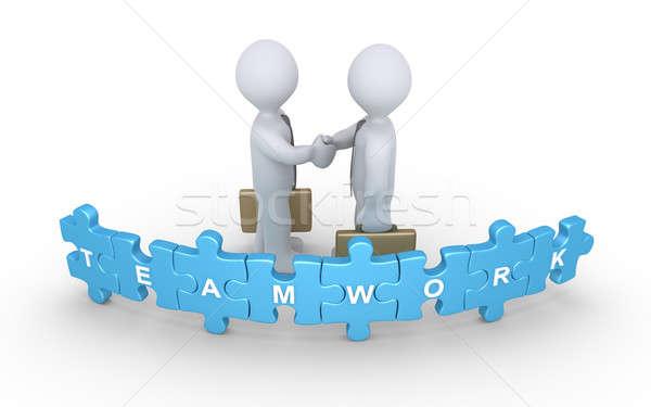 Stock photo: Businessmen agreement for teamwork