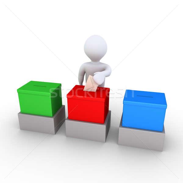 人 投票 3  選択肢 3dの人 封筒 ストックフォト © 6kor3dos