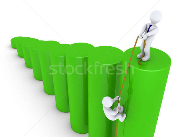 Help to climb on top of graph Stock photo © 6kor3dos
