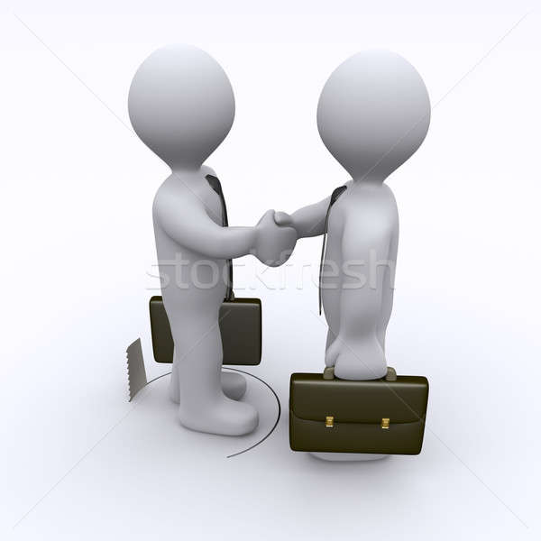 Handshake is being sabotaged Stock photo © 6kor3dos